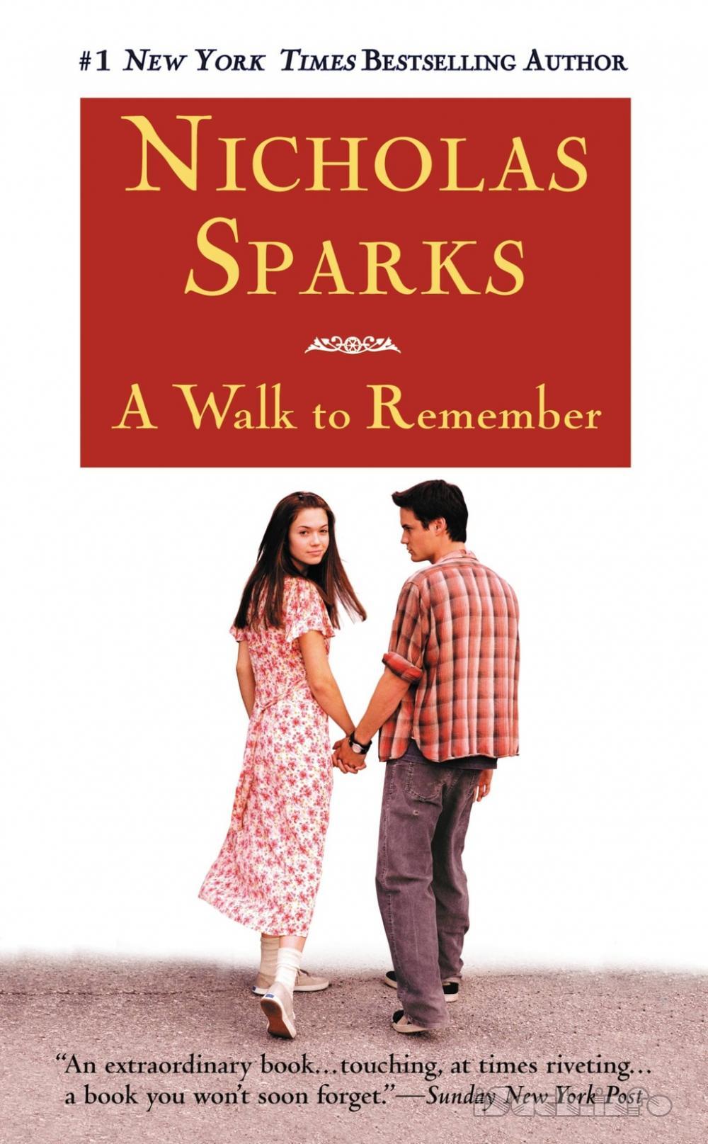 nicholas sparks's book a walk to
